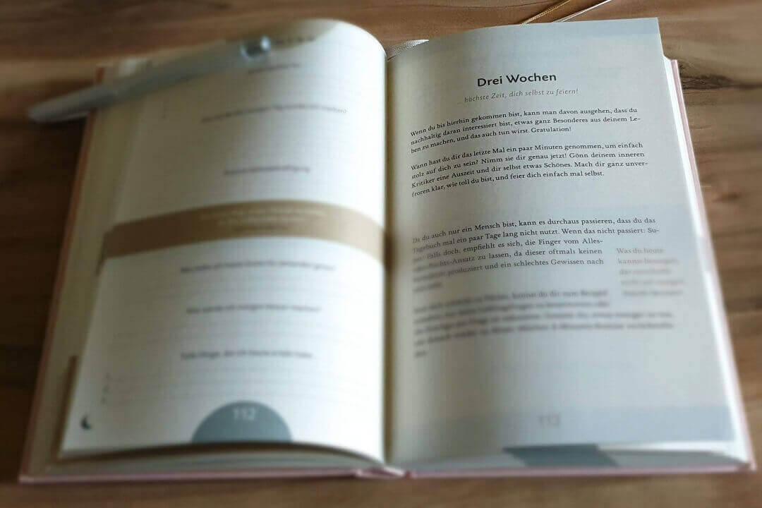 Das 6 Minuten Tagebuch Meilenstein