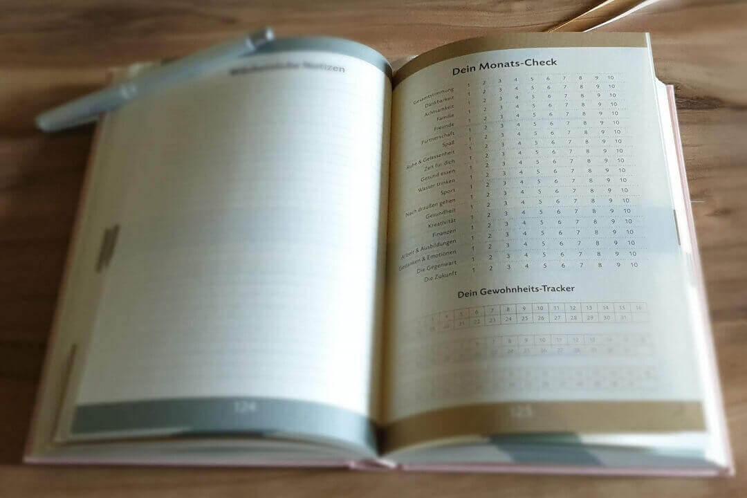 Das 6 Minuten Tagebuch Monatscheck