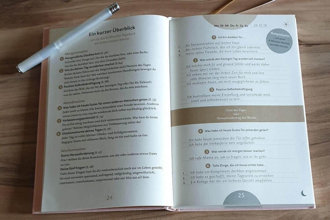 Das 6 Minuten Tagebuch Überblick